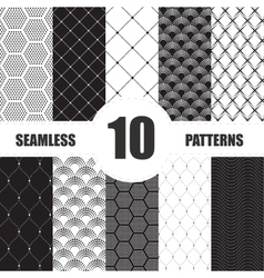Pattern dots collection geometric set vector