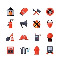 Fire Department Decorative Icons vector image