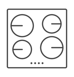 Stove icon outline vector