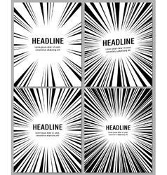 Business brochure with radial comic speed lines vector
