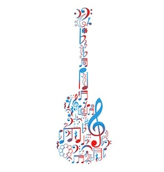 Guitar figure composed of notes vector