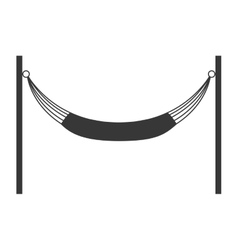 Hammock silhouette icon resting and sleep design vector
