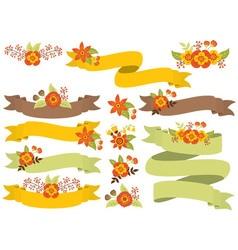 Autumn Ribbons Set vector image
