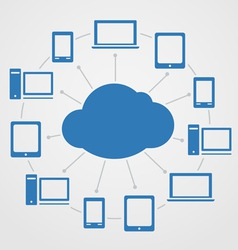 Cloud technology abstract scheme vector image