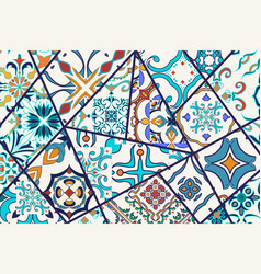 Decorative background mosaic patchwork pattern for vector