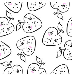Doodle of fruit art vector