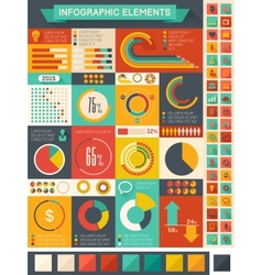 Flat infographic elements vector