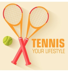 Flat sport tennis icon background concept d vector