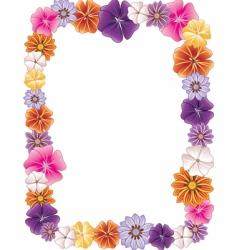 Flower border vector