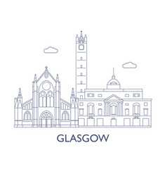 glasgow vector image vector image