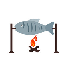 grilled fish vector image vector image