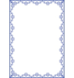 Guilloche frame vector image