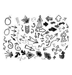 Hand Drawn Arrow Icon Set vector image