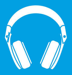 Headphones icon white vector