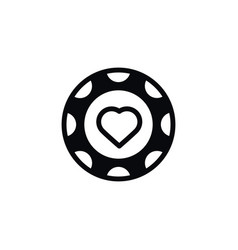 isolated hearts icon currency element can vector image vector image