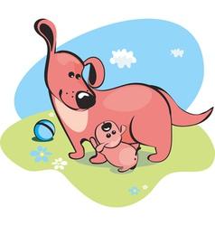 mama dog vector image