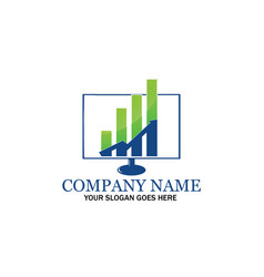 Marketing strategy logo design vector