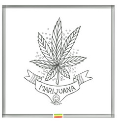 Medical marijuana logo black ten vector