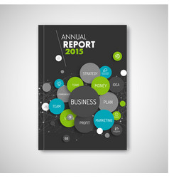 modern abstract brochure report business template vector image