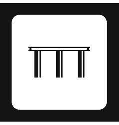 Narrow bridge icon simple style vector