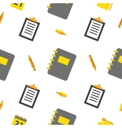 Office objects seamless pattern with pen vector