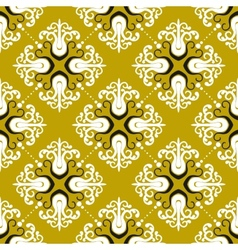 Ornamental vintage pattern with damask motifs vector image