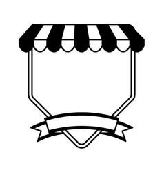 Pizza shop frame icon vector