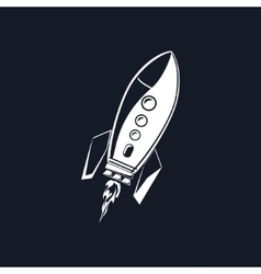 Rocket Isolated on Black vector image vector image