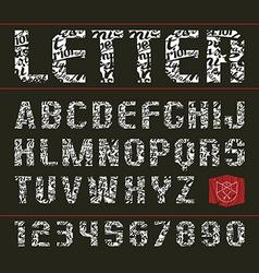 Sans serif decorative font vector