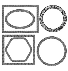Set of greek ornamenal frames vector