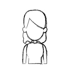 silhouette drawing of faceless half body woman vector image vector image