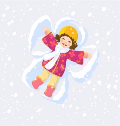 snow angel vector image vector image