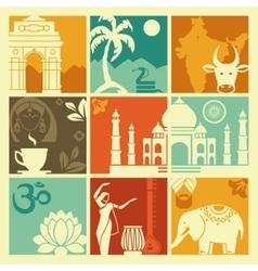 Symbols of India vector image