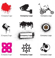 urban logos vector image