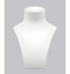 White dummy for jewelry vector image