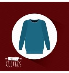 Winter clothes design vector