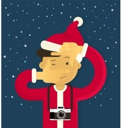 Christmas creative photographer vector