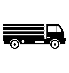 Truck with cargo icon simple style vector image