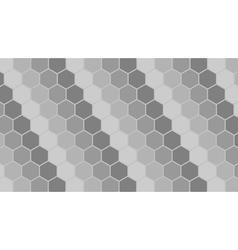 Silver hexagonal geometric background vector