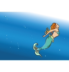 Beautiful mermaid swim vector