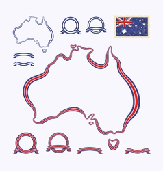 Colors of australia vector
