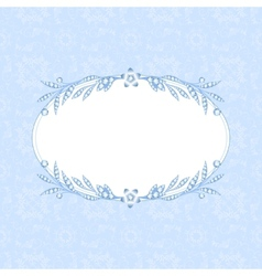 Frame with diamonds vector