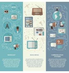 Media Banner Set vector image