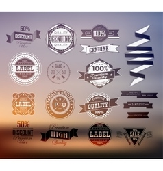 Premium and high quality label vector