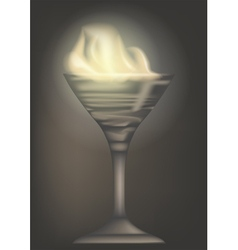 Burn cocktail vector
