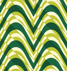 Retro 3d bulging light green waves diagonally cut vector