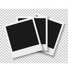 Bunch of photo frames isolated on ps style vector