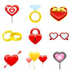 Love concept icons vector
