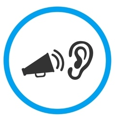 Listen advertisement circled icon vector
