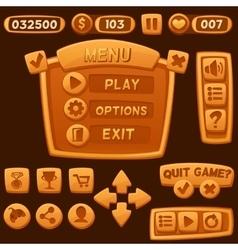 Set of orange cartoon buttons vector image